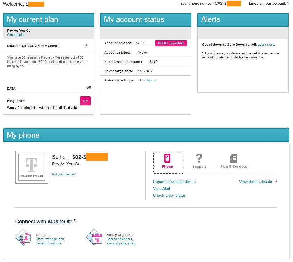 T-mobile 선불 유심 등록 및 구글 보이스 번호 만들다