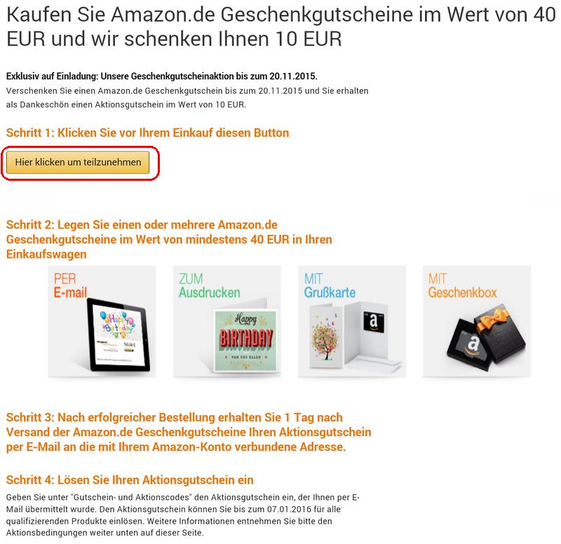 [종료] 아마존 독일 기프트카드 40유로 구입 시 10유로 프로모션 할인권 증정