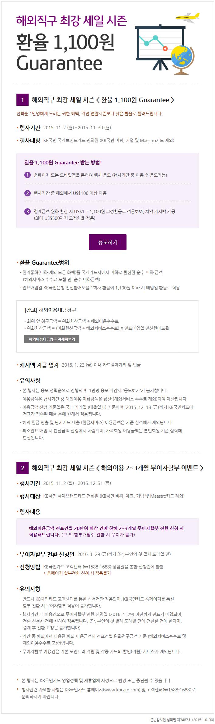 [종료] 국민카드 해외직구 환율 보장이벤트
