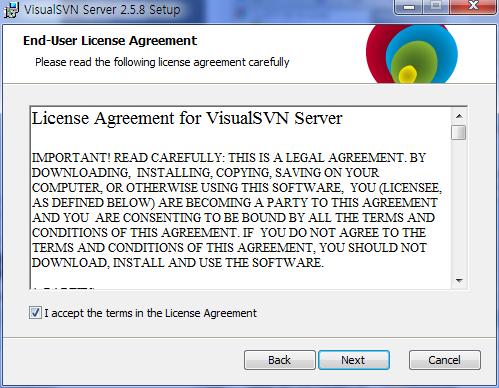 VisualSVN 서버 설치 및 설정하기