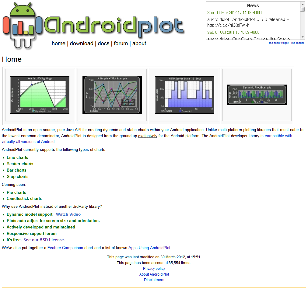 안드로이드용 챠트 라이브러리 – AndroidPlot
