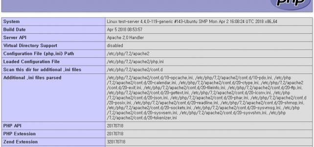 Ubuntu 16.04에 Apache, MySQL, PHP 설치하기